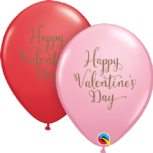 Valentines Day Script - 11 Inch Balloons 25pcs (Red & Pink)